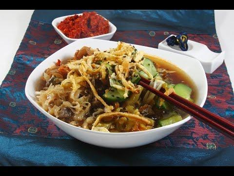 Корейская кухня.  Кукси   корейский суп.