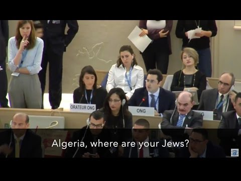 """Algeria, where are your Jews?"" — Hillel Neuer silences the U.N."