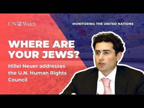 Algeria where are your Jews — Hillel Neuer silences the UN