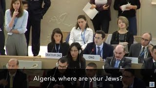 "vuclip ""Algeria, where are your Jews?"" — Hillel Neuer silences the U.N."