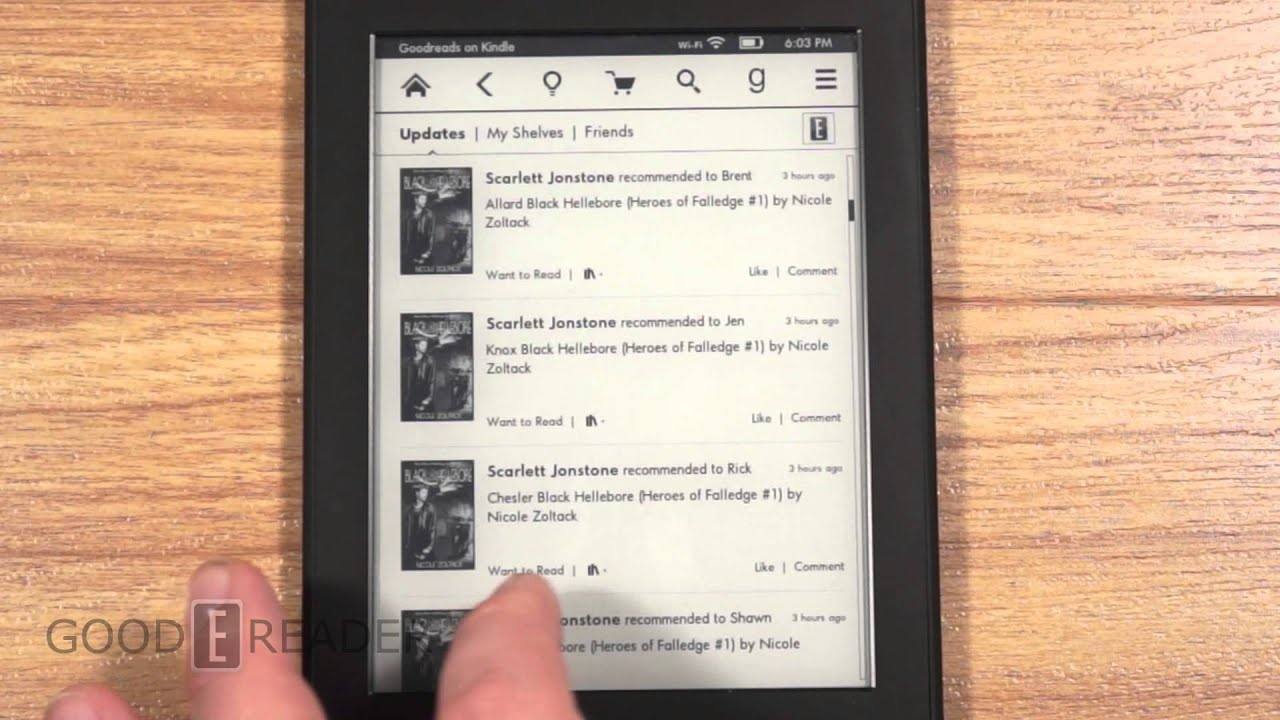 Goodreads on Kindle Paperwhite 2