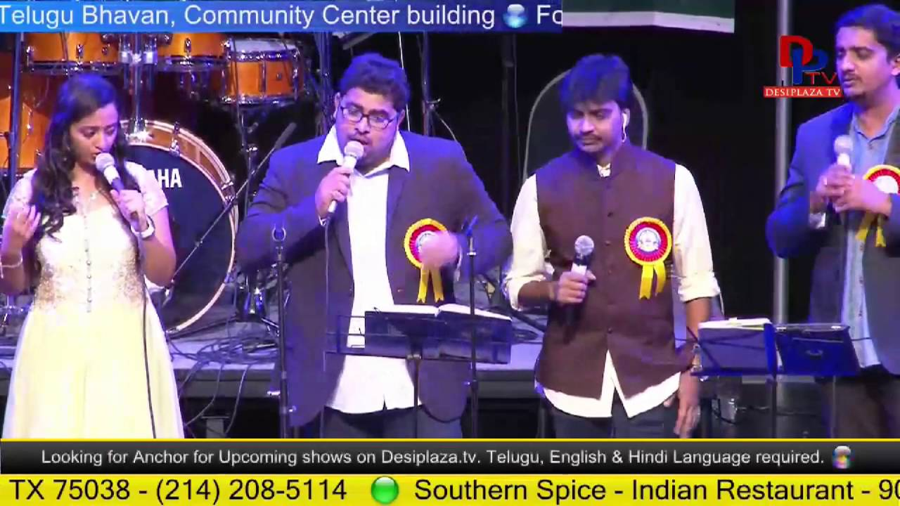 Song on Telugu Language at Telugu Bhavan fund raising  - Houston
