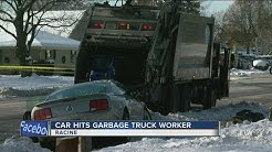 Racine garbage truck worker killed in crash
