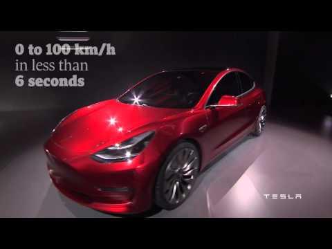GLOBE DRIVE: Tesla unveils Model 3