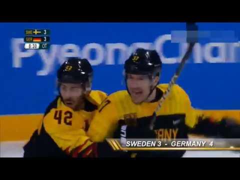 Sweden - Germany (Schweden - Deutschland ) Eishockey 3:4