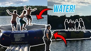 WATER TRAMPOLINE HOPPING! (COPS CALLED)