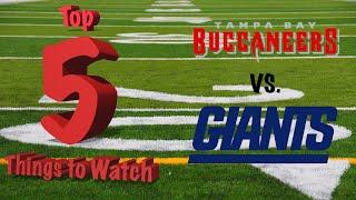 Top 5 Things To Watch For - NFL Week 3 - New York Giants vs. Tampa Bay Buccaneers - JONES 1ST START!