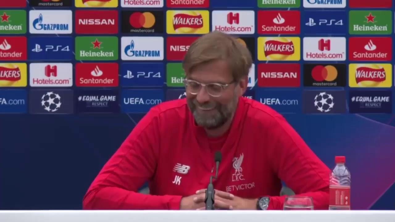 Jurgen Klopp Pre Match Press Conference Champions League Final 2019 Tottenham Vs Liverpool