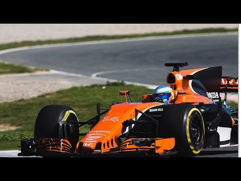 f1 2017 test barcelona fernando alonso mclaren honda mcl32 youtube. Black Bedroom Furniture Sets. Home Design Ideas