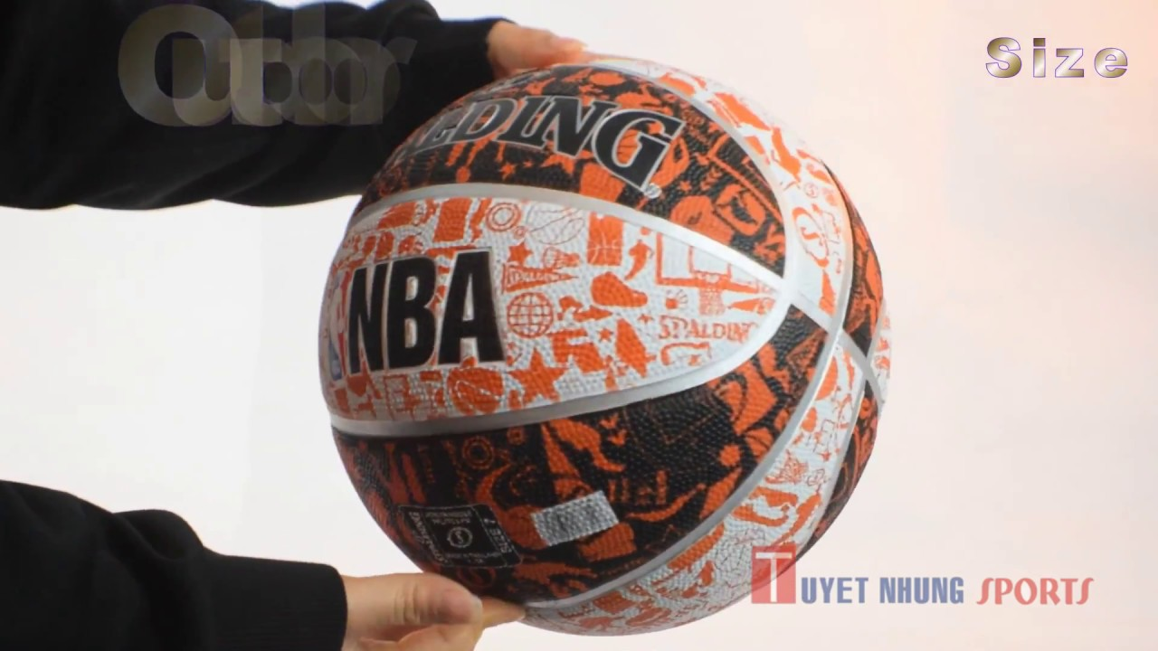 bóng rổ spalding nba graffiti outdoor size 7  youtube