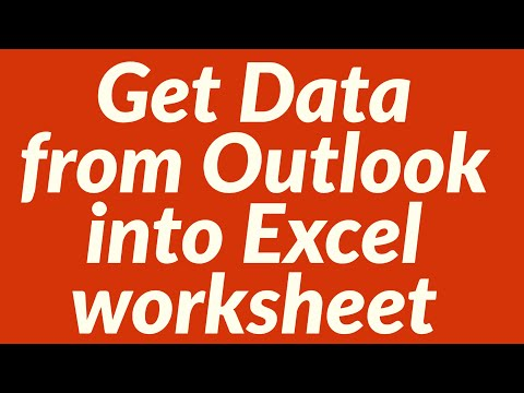 Get Data From Outlook Into Excel Worksheet
