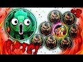 Epic Agar.io Double Bait For #1! + Crazy Wiggle Same Size Popsplit!