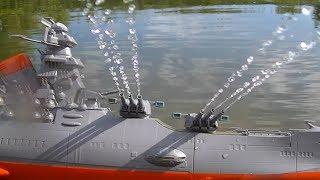 バンダイ宇宙戦艦ヤマト2199のプラモデルをラジコン化したものですが、今回、主砲旋回&ショックカノン発射(放水)に成功しましたので、動画...