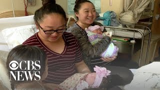 Twins gave birth on same day, at same hospital, just an hour apart