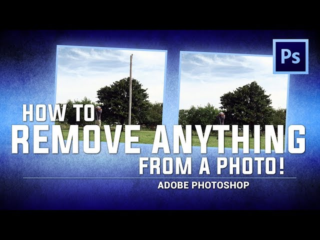 Remove ANYTHING from a PHOTO! / Adobe Photoshop (Tutorial)