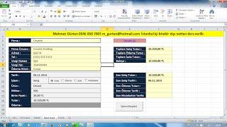 Excel Ders Hesap Takibi Klasörden Farklı Dosyalara Bilgi Girişi ve Çağırma