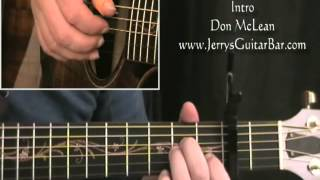 How To Play Don McLean And I Love You So (intro only)