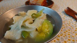 수제비/쫀득쫀득~시원 칼칼한 수제비 캠핑요리/캠핑