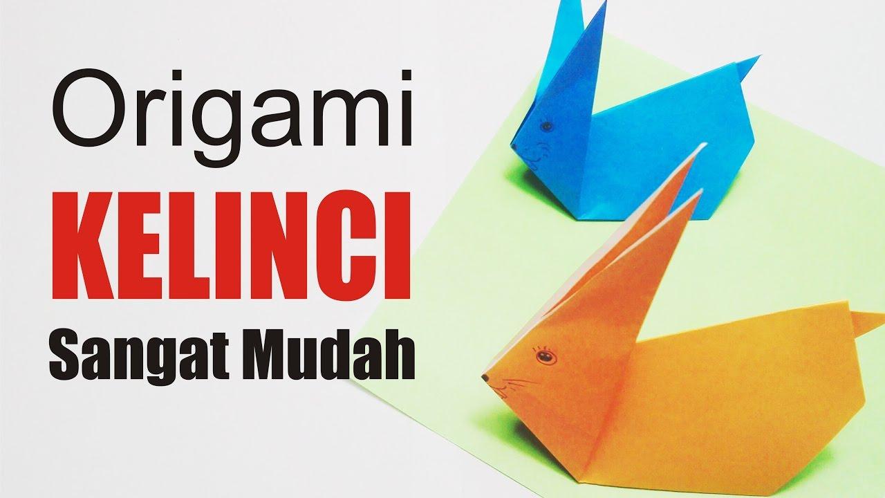 Cara Membuat Origami KELINCI sederhana Sangat Mudah YouTube