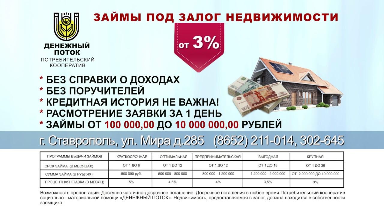 деньги под залог недвижимости ставрополь