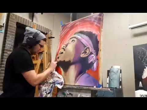Chance the Rapper Times Lapse Color Painting