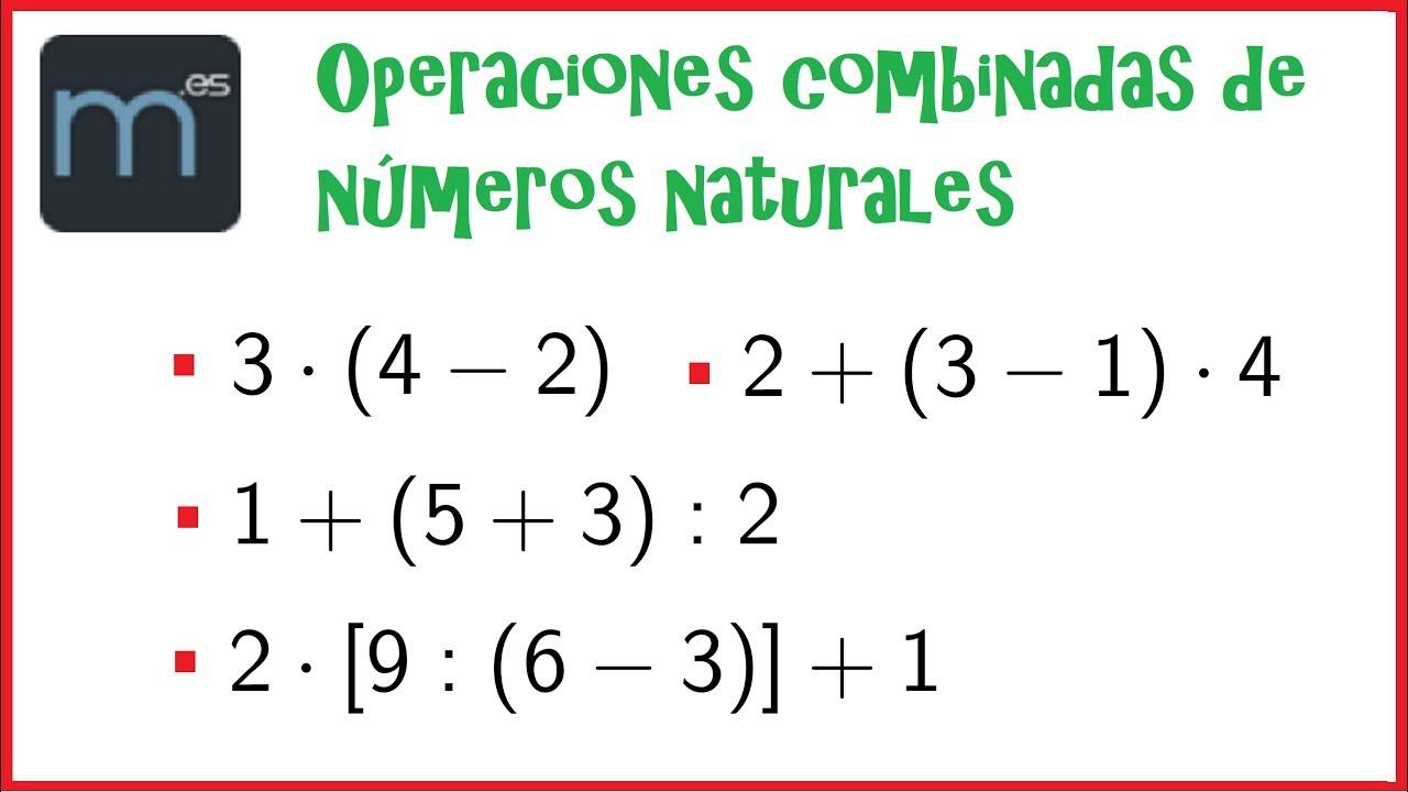 Operaciones Combinadas De Números Naturales Paréntesis Y Corchetes Youtube