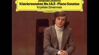 Brahms / Krystian Zimerman, 1980: Klaviersonate Nr. 1 C-dur, Op. 1 - Movement 4