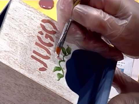 Pintura en madera caja para guardar jugos youtube - Cajas de plastico para almacenar ...