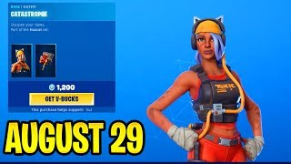Before YOU BUY!! CATASTROPHE SKIN...!! August 29 Item Shop Daily Update - Fortnite