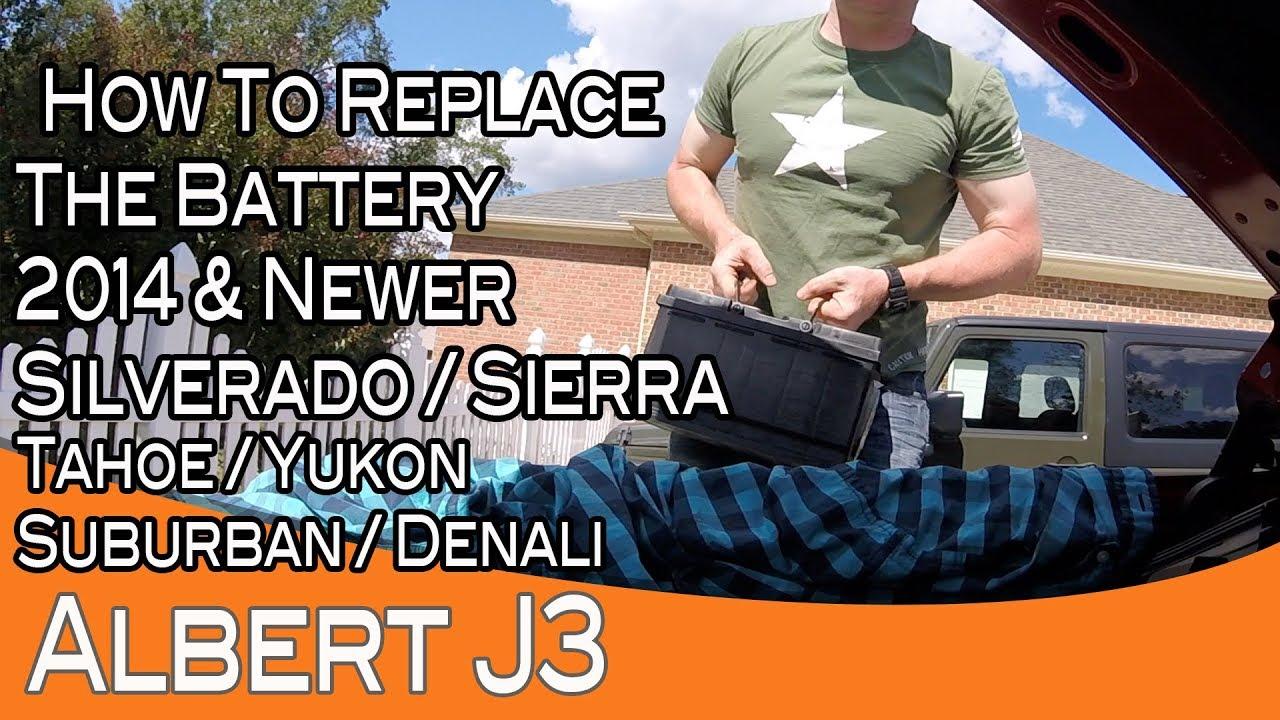 2017 Silverado Sierra Battery Replacement Also Tahoe Yukon Suburban And Denali