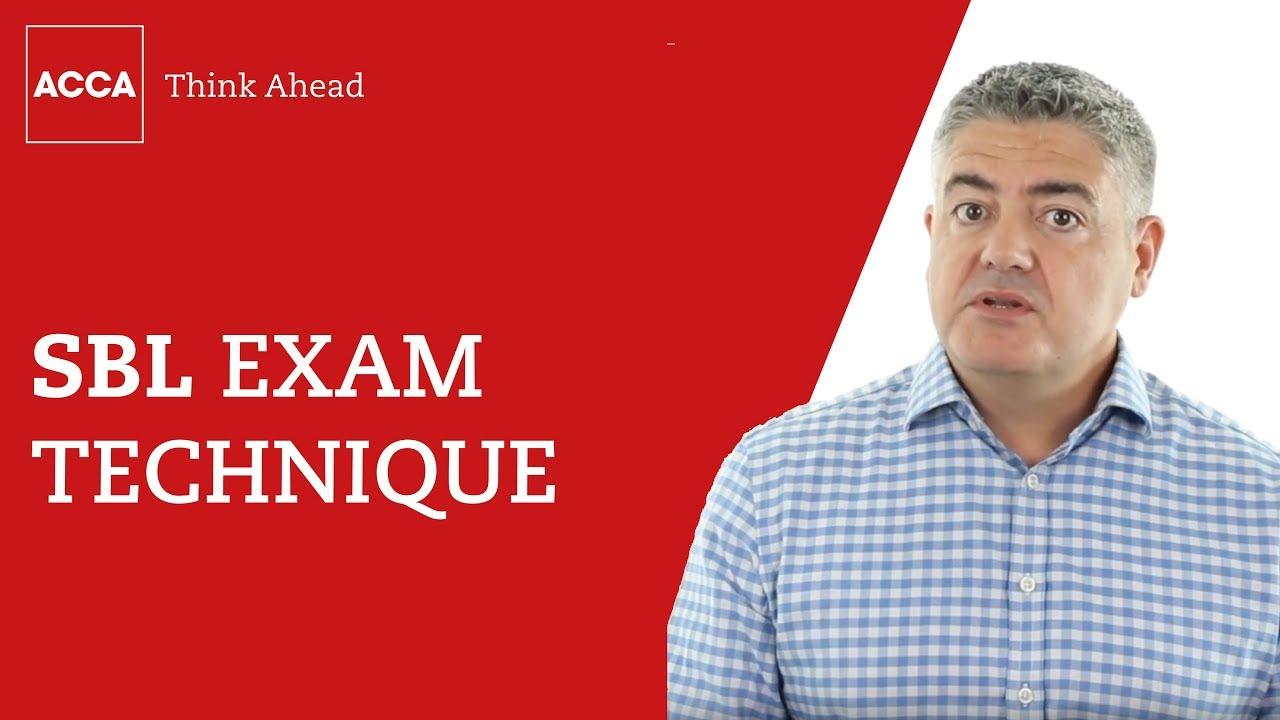 Strategic Business Leader: exam technique