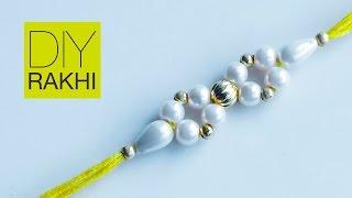 How to make rakhi | rakhi for Raksha Bandhan | Rakhi making | pearl bracelet