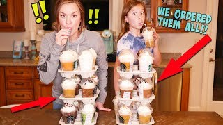 WE ORDERED EVERY FRAPPUCCINO FROM STARBUCKS!