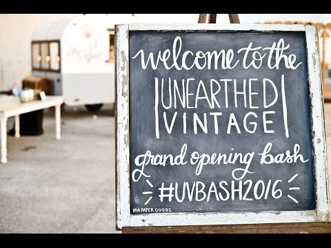 Unearthed Vintage Event Rental 2016 Grand Opening Bash