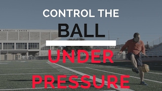 How to control the soccer ball under pressure | easy soccer tip