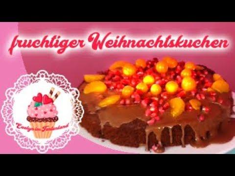 Fruchtiger Kuchen Fur Weihnachten Youtube