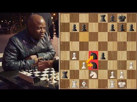 Grandmaster Maurice Ashley Plays Willson the Chess Hustler in NYC Park