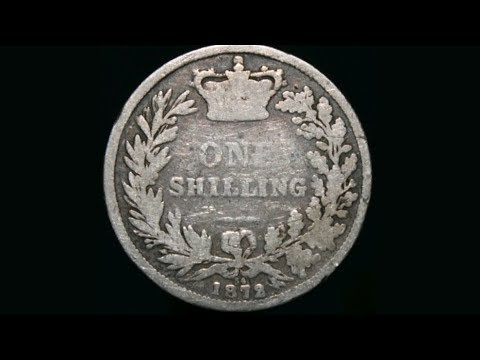 UK 1872 ONE SHILLING Coin VALUE + REVIEW