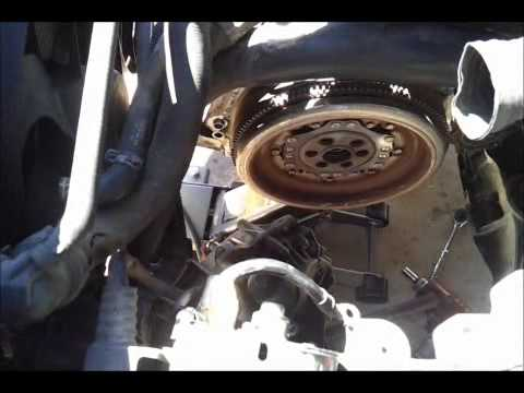 How to Remove and replace transmission DSG DFM dual mass flywheel remove and replace R & R TDI vw
