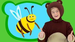 🍯ТРИ МЕДВЕДЯ 🌻ПЧЕЛА -Three bears sons Развивающая песня мультик для детей малышей про мёд