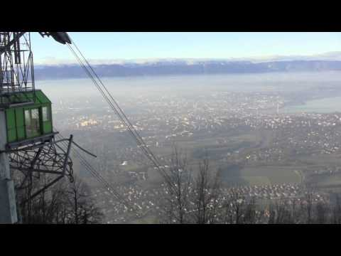 Cable Car Ride up Mont Salève, France & Views Over Geneva, Switzerland - 7th January, 2015