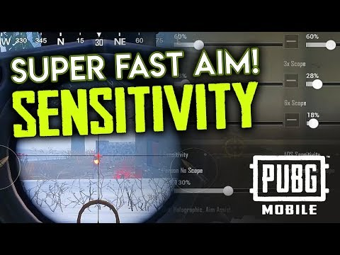 SUPER FAST AIM - SENSITIVITY SETTINGS  - PUBG Mobile