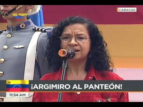 Ministra de Cultura Alejandrina Reyes dedica canción a Argimiro Gabaldón