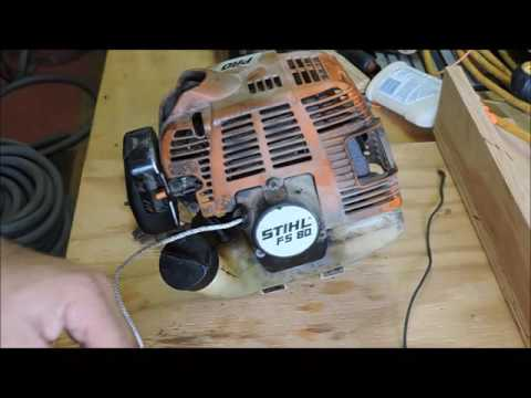 Stihl FS 80 Weed Eater Pull String Replacement YouTube