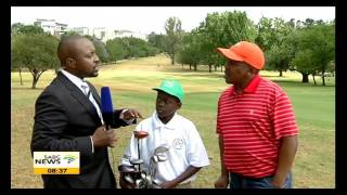 Youngsters having fun at Andrew Mlangeni Golf Day