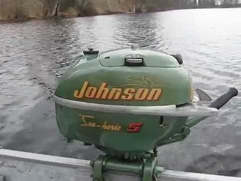 1950 tn26 johnson sea horse being restored doovi for 4 horse boat motor
