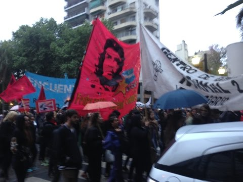 Rally to protest against violence against women and girls in Rosario Argentina