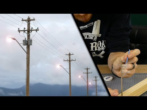 Extremely Realistic Utility Pole with Lighting Effects – Model Railroad Scenery