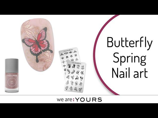 Spring Stamping Nail Art Design