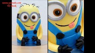 Торт Миньон из мастики 3д торт | Украшение тортов | Minion Cake